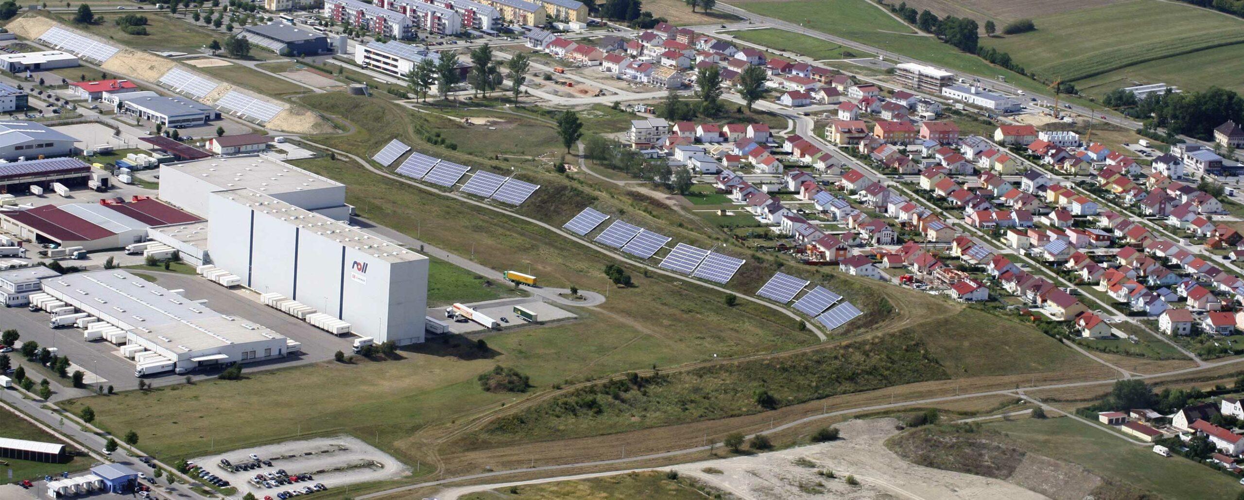 Solarthermie Hirtenwiesen Crailsheim Luftbild